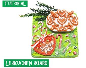 Tutorial - Christmas Lebkuchen Board - Miniature 1:12 Scale Food