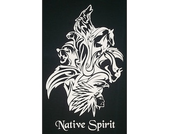 Totem Animals Native Spirit American Indian T-Shirt WH