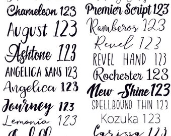 Choose a font - Do Not Purchase :)