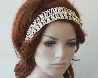 Bridal Pearl Headband, Wedding  Hair Accessories,  Pearl Headpiece, Weddings Hair, Bridal Hair Jewellery