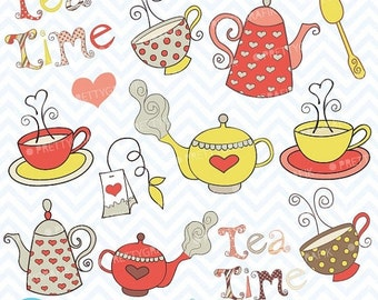 80% OFF SALE Teapot clipart commercial use, vector graphics, digital clip art, digital images  - CL302