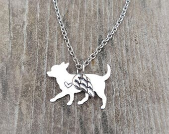 Angel Dog Necklace Chihuahua Short Haired