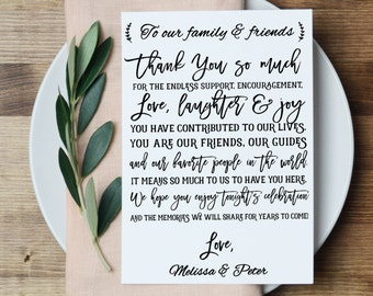 Wedding Thank You Printable Template, Printable Thank you, Thank You Card Template, Wedding Printable, PDF Instant Download #APC10_1