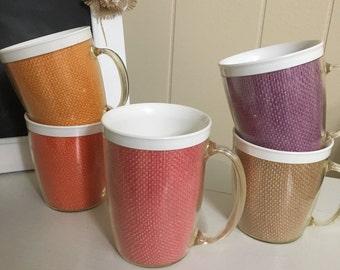 Thermal Insulated Raffia Ware type Burlap Mugs