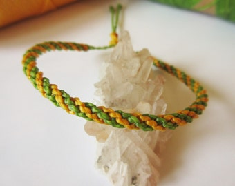 Green apple & Yellow Friendship Bracelet/Love/Surf Bracelet Handmade Wristband