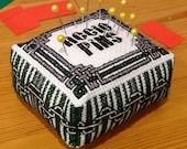 Cross Stitch Pin Cushion Pattern and Tutorial - House Pride - Green and Silver