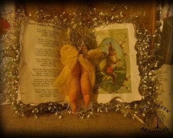 Peter Rabbit Book Display Primitive Decor