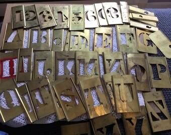4 inch vintage brass stencil lot