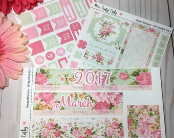 Green Blossom - Happy Planner March Monthly Kit