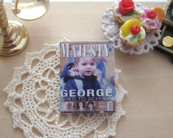 dollhouse prince george  going to school magazine 12th scale miniature