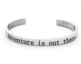 Sale - Disney - Disney Bracelet - Disney Jewelry - UP - Adventure is out there - Disney Bangle