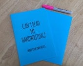 Make Your Own Notes Funny Lined A5 Notebook Stationery Gift for Student or Writer, Graduation or Back to School Supplies