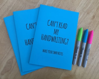 3 for 2 Make Your Own Notes Funny Lined A5 Notebook  Gift for Student or Writer, Back to School Supplies