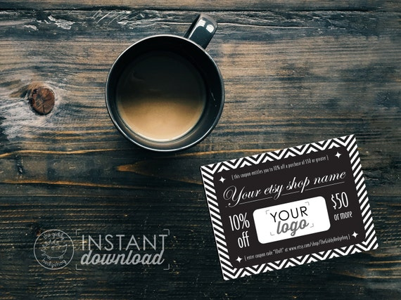 Coupon outline in photoshop