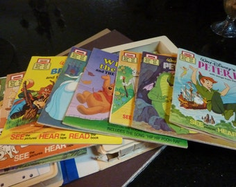 Disney's Take a Tape Along Cassette and Read Along Book Set