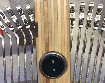 "Vintage "","" Comma Typewriter Key & Handsanded Plywood"