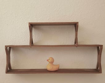 Vintage Mid Century Wall Shelf Display