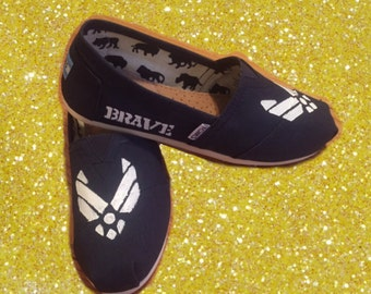 US Air Force Toms [BRAVE] military shoes. Military Toms. Airforce shoes