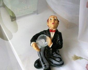 Retro barware - Drunken man - bar decor - bar figurine - shot glass - home decor - bar - barware - figurines