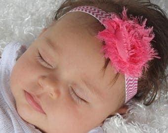 Infant Headband, Hot Pink Headband, Pink Headband, Baby Headbands, Flower Headband, Birthday Headband, Handmade Headband, Baby shower Gift