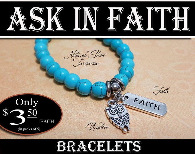 YW 2017 Ask of God Ask in Faith Bracelets Turquoise Young Women Theme Jewelry Charms New Beginnings, Missionary, Christmas, Birthday gifts