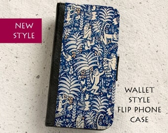 iPhone Case (all models) - Monkeying Around - wallet flip case -  Samsung Galaxy S4,S5,S6,S7Edge,Note4,5,S8,S8Plus & more
