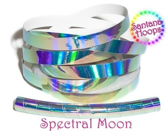 Spectral Moon Plasma Rainbow Taped Performance Hula Hoop Polypro or HDPE