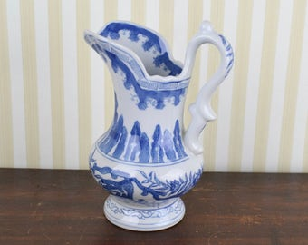Vintage Chinoiserie Pitcher