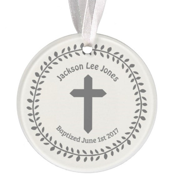 Baptism Ornaments: Baptism Ornament Christmas Ornament Personalized Baby