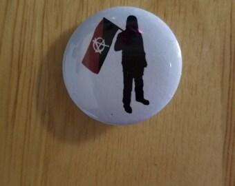 Anarchy Flag Guy button
