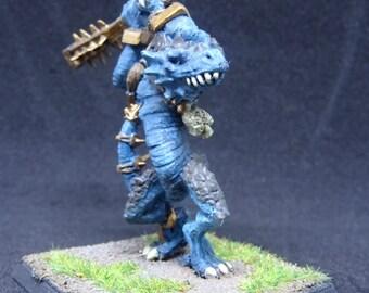 Lizardmen Kroxigor, Warhammer Fantasy, Age of Sigmar Giants. Dungeon and Dragons Lizardfolk Tabletop Miniature