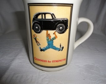 Carrigaline Pottery Coffee Mug Guinness For Strength Made In Ireland Rare Irish Souvenir Beer Mug Vintage Coffee Cup