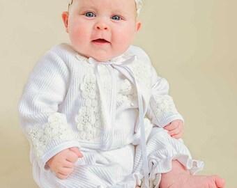 Amber After Christening Romper, Amber Romper for Baby Girl's