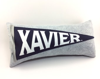 Xavier University Musketeers Pennant Pillow