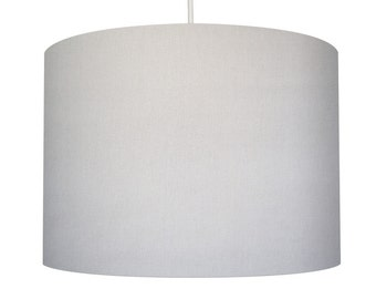 White Linen Fabric Drum Lampshade, Small Lampshade 20cm - Large Lampshade 40cm or Custom Order