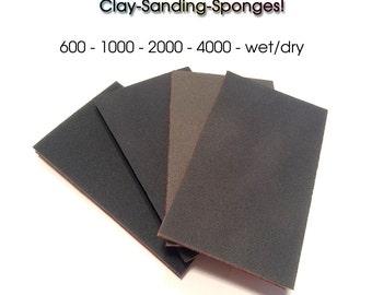 Wet Dry Sanding Pads, sanding sponges, spugne abrasive, carta abrasiva, lucidare Fimo