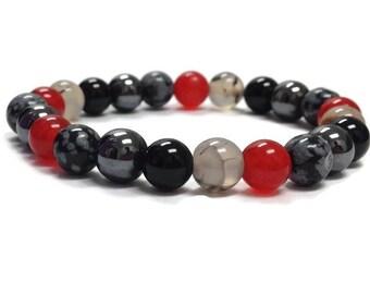 Gemstones bracelet, Healing bracelet, Grounding bracelet, Beaded bracelet