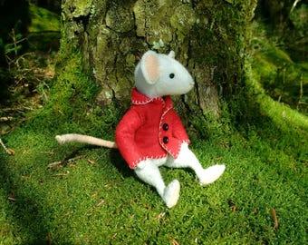 Thornton Mouse - felt mouse - art doll