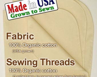 "15""x15"" USA Organic Cotton - Muslin Cheesecloth for Straining, Tofu, Nut Cheese"