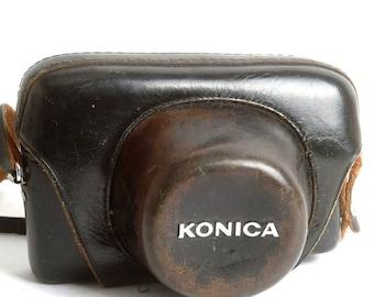Vintage Leather Konica Rangefinder Camera Case 35mm Cameras