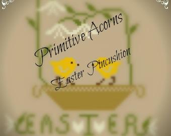 easter pincushion cross stitch pattern