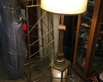 Hollywood Regency gold gilt floor lamp