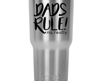 Dads Rule, Gifts for Dad, Father's Day Gifts, Engraved Tumblers, Gifts for Fathers, Dad Gifts, Father's Day Tumblers, Tumblers for Dads