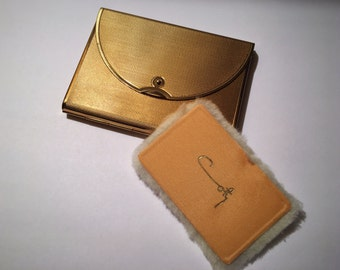 Vintage 1950s Coty Envelope Mirrored Powder Compact