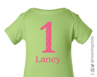 Baby FIRST BIRTHDAY, personalized baby girl one piece
