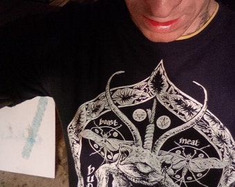 Occult Black Metal Witchcraft Toad Screenprint Demon Shirt