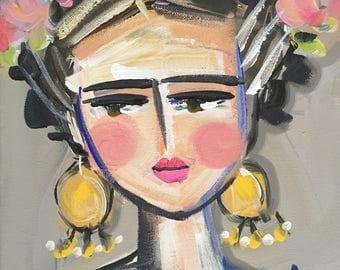 Frida Kahlo Print, roses, 8 x 10, 11x14, 16x20