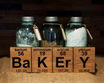 Bakery Periodic Decorative Wood Box for Mason Jar