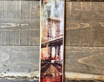 Brooklyn Bridge - 4x15 in.