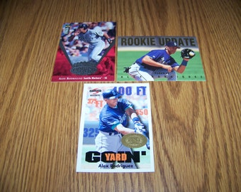 3 Alex Rodriguez (Seattle Mariners) Insert Cards